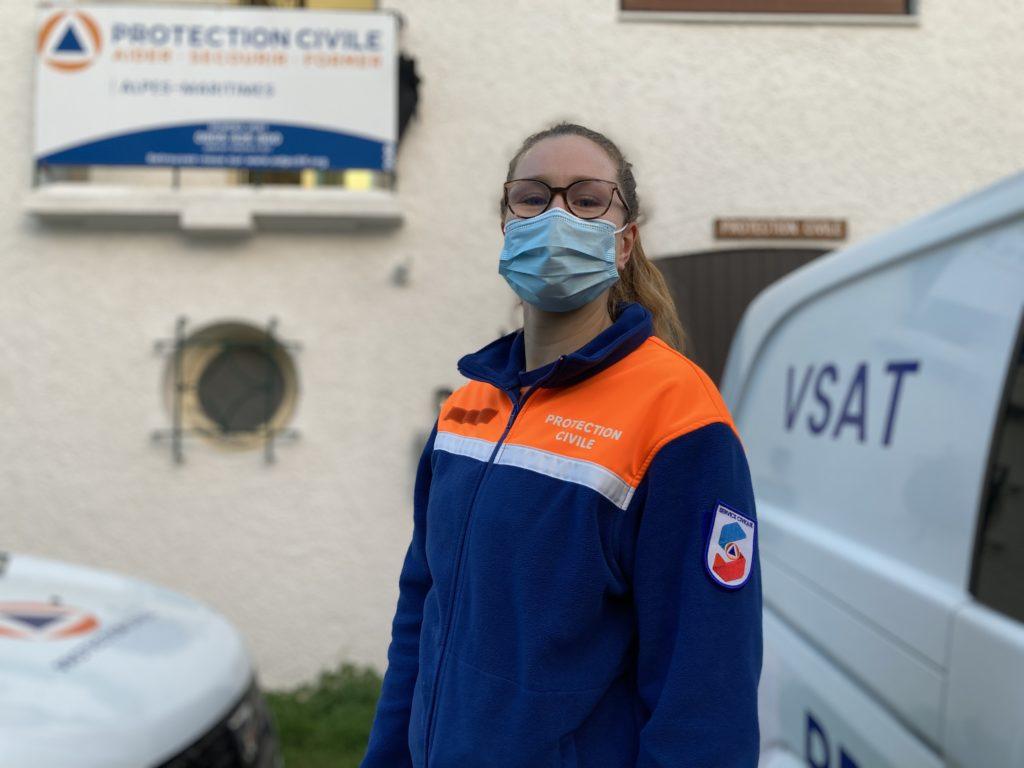 Lisa, Volontaire en Service Civique à la Protection Civile des Alpes-Maritimes (Photo JC / @ADPC06)